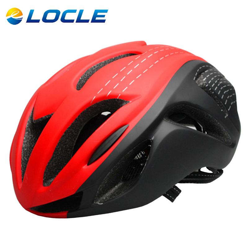 Locle Helm Sepeda Red/Black
