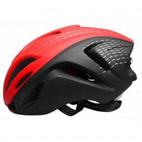 Locle Helm Sepeda - Red/White - 2