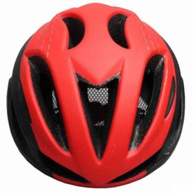 Locle Helm Sepeda - Red/White - 3