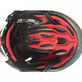 Locle Helm Sepeda - Red/White - 4