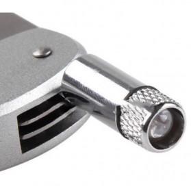 Karabiner Pisau Lipat Multifungsi Portable Knife Carabiner Mountaineering Survival Tool EDC - CRB1 - Silver - 6