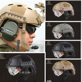 Helm Tactical Airsoft Gun - Brown - 6