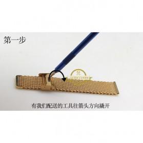 Strap Jam Tangan Milanese Stainless Steel 18mm - Rose Gold - 8