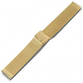 Strap Jam Tangan Milanese Stainless Steel 18mm - Golden