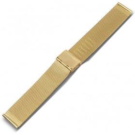 Strap Jam Tangan Milanese Stainless Steel 20mm - Golden