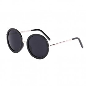 Kacamata Bulat Klasik - Black