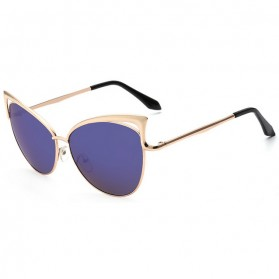 Kacamata Cat Eye Polarized - Golden/Blue