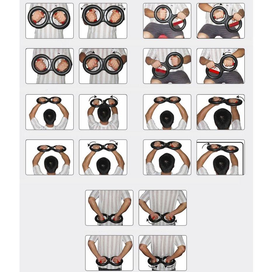 Alat Fitnes Wrist Arm Force Exercise Power 5kg Black Exerciser Melatih Pergelangan Tangan 10