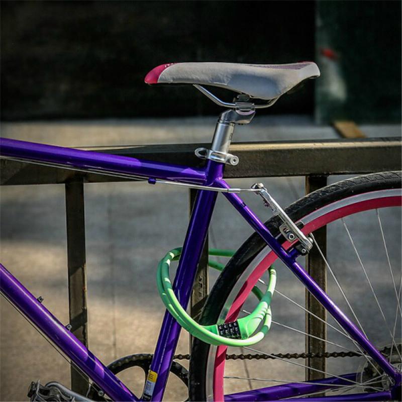 Gembok Sepeda Kode Angka 4 Digit - Black - 4