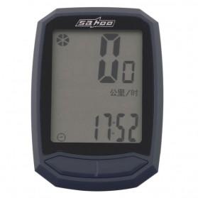 Sahoo Speedometer Sepeda LCD Waterproof - Black