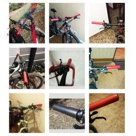 Eachgo Handgrip Sepeda Sporty Bahan Silikon Bike Handlebar Grip - STD - Black - 2