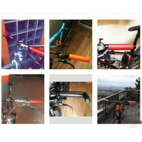 Eachgo Handgrip Sepeda Sporty Bahan Silikon Bike Handlebar Grip - STD - Black - 3