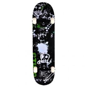 Skateboard Fullset Maple Printing Profesional 8.0 - Model Poison - Black