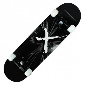 Skateboard Fullset Maple Printing Profesional 8.0 - Model Silent - Black