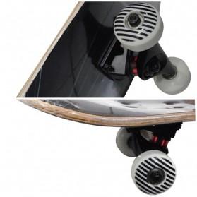 Skateboard Fullset Maple Printing Profesional 8.0 - Model Silent - Black - 2