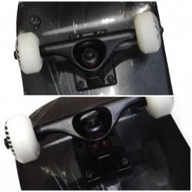 Skateboard Fullset Maple Printing Profesional 8.0 - Model Silent - Black - 3