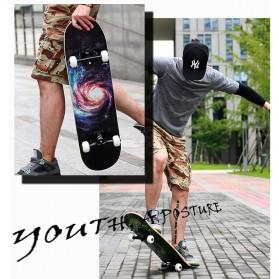 Skateboard Fullset Maple Printing Profesional 8.0 - Model Silent - Black - 5