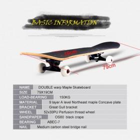 Skateboard Fullset Maple Printing Profesional 8.0 - Model Silent - Black - 7