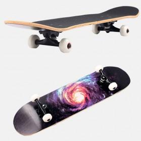 Skateboard Fullset Maple Printing Profesional 8.0 - Model Silent - Black - 8