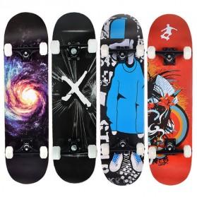 Skateboard Fullset Maple Printing Profesional 8.0 - Model Silent - Black - 9