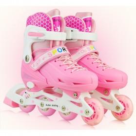 Roller Skate dengan Set Pengaman Size M - Pink - 1