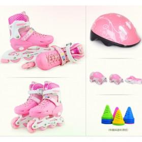 Roller Skate dengan Set Pengaman Size M - Pink - 2