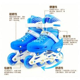 Roller Skate dengan Set Pengaman Size M - Pink - 4