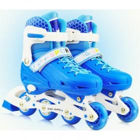 Roller Skate dengan Set Pengaman Size M - Blue