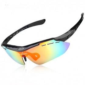 CoolChange Kacamata Sepeda dengan 5 Lensa Myopia - 0089 - Black