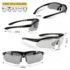 CoolChange Kacamata Sepeda dengan 5 Lensa Myopia - 0089 - Black - 5