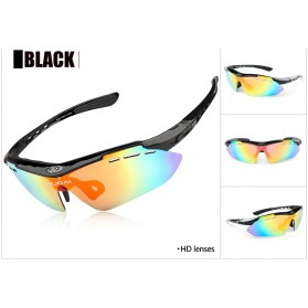 CoolChange Kacamata Sepeda dengan 5 Lensa Myopia - 0089 - Black - 6