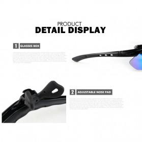CoolChange Kacamata Sepeda dengan 5 Lensa Myopia - 0089 - Black - 7