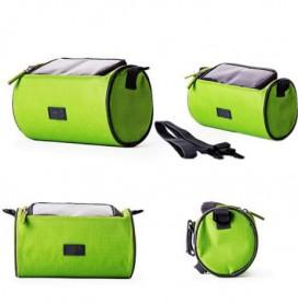 Tas Sepeda Front Frame dengan Smartphone Pocket - Green - 2