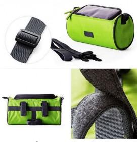 Tas Sepeda Front Frame dengan Smartphone Pocket - Green - 5