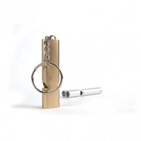 WDAIREN Gantungan Kunci Peluit Aluminium - Z6482 - Silver - 5