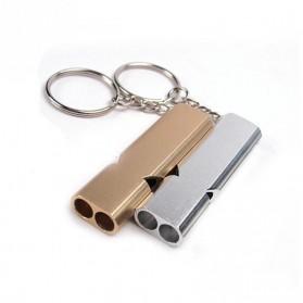 WDAIREN Gantungan Kunci Peluit Aluminium - Z6482 - Silver - 9