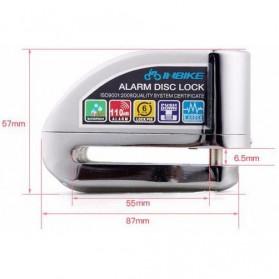 Gembok Alarm Sepeda Motor Waterproof 110dB - FS8305 - Yellow - 9