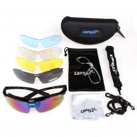 Copozz Kacamata Sepeda dengan 5 Lensa Myopia - Black - 4