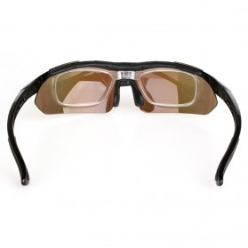 Copozz Kacamata Sepeda dengan 5 Lensa Myopia - Black - 5