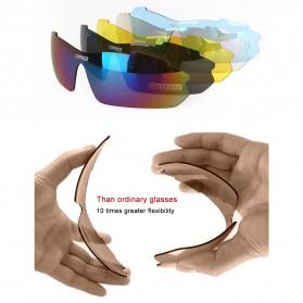Copozz Kacamata Sepeda dengan 5 Lensa Myopia - Black - 6