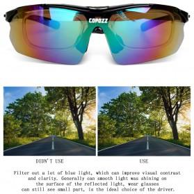 Copozz Kacamata Sepeda dengan 5 Lensa Myopia - Black - 7