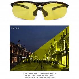 Copozz Kacamata Sepeda dengan 5 Lensa Myopia - Black - 9