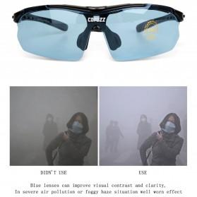 Copozz Kacamata Sepeda dengan 5 Lensa Myopia - Black - 11
