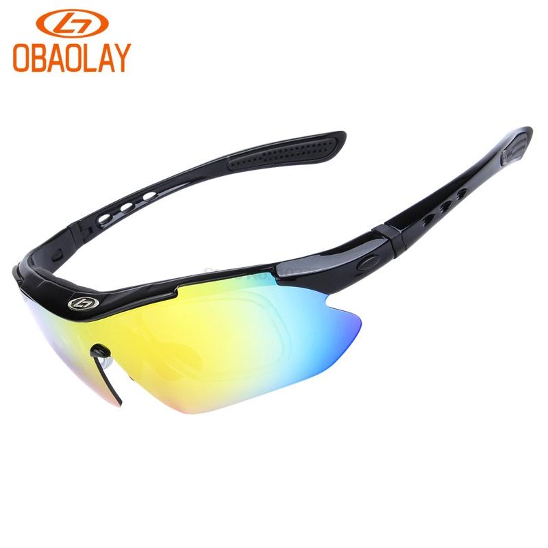 ... OBAOLAY Kacamata Sepeda dengan 5 Lensa Myopia (false) - Black - 1 ... f6789cb07e