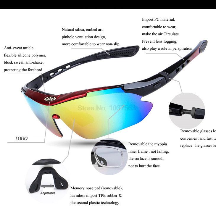 ... OBAOLAY Kacamata Sepeda dengan 5 Lensa Myopia (false) - Black - 5 ... a1e2974cce
