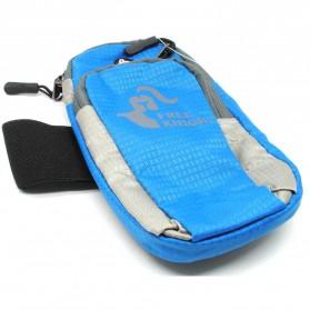 Tas Armband Lari dengan Lubang Earphone - Blue