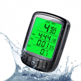 SunDING Speedometer Sepeda Backlight LCD - SD-563A - Black - 3