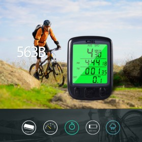 SunDING Speedometer Sepeda Backlight LCD - SD-563A - Black - 4