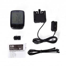 SunDING Speedometer Sepeda Backlight LCD - SD-563A - Black - 6