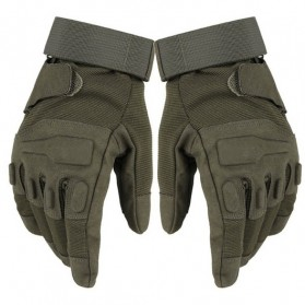 Black Eagle Hell Storm Sarung Tangan Paintball Tactical Protective Gloves - Size M - Army Green